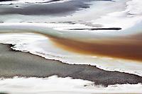 aerial photograph of saline deposits, Death Valley National Park, northern Mojave Desert, California