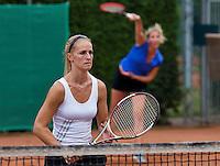 August 13, 2014, Netherlands, Raalte, TV Ramele, Tennis, National Championships, NRTK, Ladies doubles:  Samantha Helderop and  Romana Janshen<br /> Photo: Tennisimages/Henk Koster