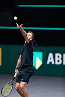 Rotterdam, The Netherlands, 4 march  2021, ABNAMRO World Tennis Tournament, Ahoy, Second round singles: Marton Fucsovics (HUN). <br /> Photo: www.tennisimages.com/
