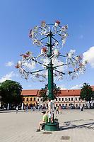 Rathausmarkt in Kaunas, Litauen, Europa