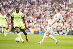 Real Madrid's Toni Kroos and Manchester City's Yaya Toure during Champions League 2015/2016 Semi-Finals 2nd leg match at Santiago Bernabeu in Madrid. May 04, 2016. (ALTERPHOTOS/BorjaB.Hojas)