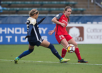 Raleigh, NC - March 24, 2018: The North Carolina Courage defeated the Portland Thorns 1-0 during a National Women's Soccer League (NWSL) match at WakeMed Soccer Park.