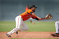 San Francisco Giants Kevin Rivera (2) during an Instructional League game against the Colorado Rockies on October 8, 2016 at the Giants Baseball Complex in Scottsdale, Arizona.  (Mike Janes/Four Seam Images)