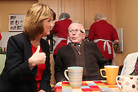 """NO REPRO FEE. 21/11/2011. New Alzheimer Day Centre at full capacity as demand for Alzheimer services grow. Minister for Social Protection Joan Burton T.D. officially opened """"Failte Day Centre"""", which will provide dementia-specific, person-centred care to people with dementia and their carers in Hartstown, Clonsilla. The Minister is pictured with cient Eddie O Hahony from the Navan Rd. The Alzheimer Society of Ireland, in partnership with the HSE, is currently operating 3 days a week caring for clients living with dementia who live in Castleknock. Picture James Horan/Collins Photos"""
