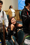 Team Chinese Tai Pei member, Lai Wan Shyun, is beside herself with joy after winning her heads up match.