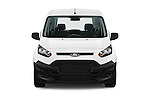 Car photography straight front view of a 2018 Ford Transit-Connect Van-XL-SWB-(Rear-Liftgate) 5 Door Mini MPV Front View