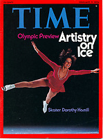 Time cover, Olympic preview with Figure Skater Dorothy Hamill, February 2, 1976. Photo by John G. Zimmerman.