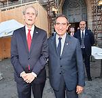 L'AMBASCIATORE CHRISTIAN MASSET E CARLO FUORTES<br /> RICEVIMENTO 14 LUGLIO 2021 AMBASCIATA DI FRANCIA<br /> PALAZZO FARNESE ROMA