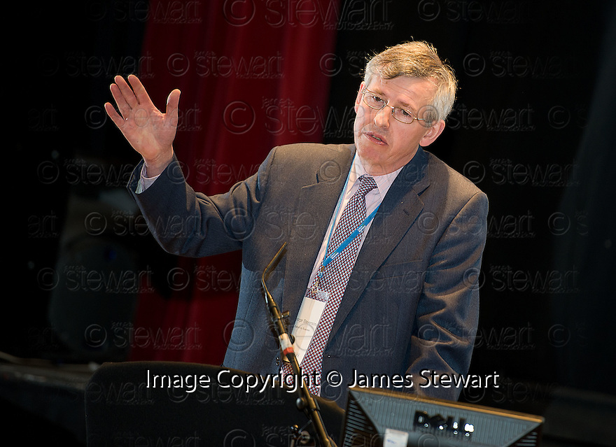 George Stevenson during the Q&A Session at the Falkirk Business Panel Update Event 2012, Falkirk Town Hall...