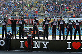 Monster Energy NASCAR Cup Series<br /> I LOVE NEW YORK 355 at The Glen<br /> Watkins Glen International, Watkins Glen, NY USA<br /> Sunday 6 August 2017<br /> Martin Truex Jr, Furniture Row Racing, Furniture Row/Denver Mattress Toyota Camry and crew members celebrate the win<br /> World Copyright: Russell LaBounty<br /> LAT Images