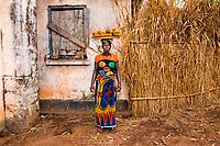 Kadatu selling Mangos in Port Loko, Sierra Leone