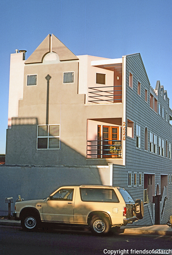 Venice CA: Post-Modern Building, Pacific Ave., 1985.  Photo '86.