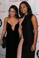 """HOLLYWOOD, CA - JANUARY 14: Vanessa Hudgens, Rosario Dawson at the Los Angeles Screening of Roadside Attractions & Day 28 Films' """"Gimme Shelter"""" held at the Egyptian Theatre on January 14, 2014 in Hollywood, California. (Photo by Xavier Collin/Celebrity Monitor)"""