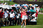 CHON BURI, THAILAND - FEBRUARY 20:  Michelle Wie of USA plays  her second shot on the 11th hole during day four of the LPGA Thailand at Siam Country Club on February 20, 2011 in Chon Buri, Thailand. Photo by Victor Fraile / The Power of Sport Images