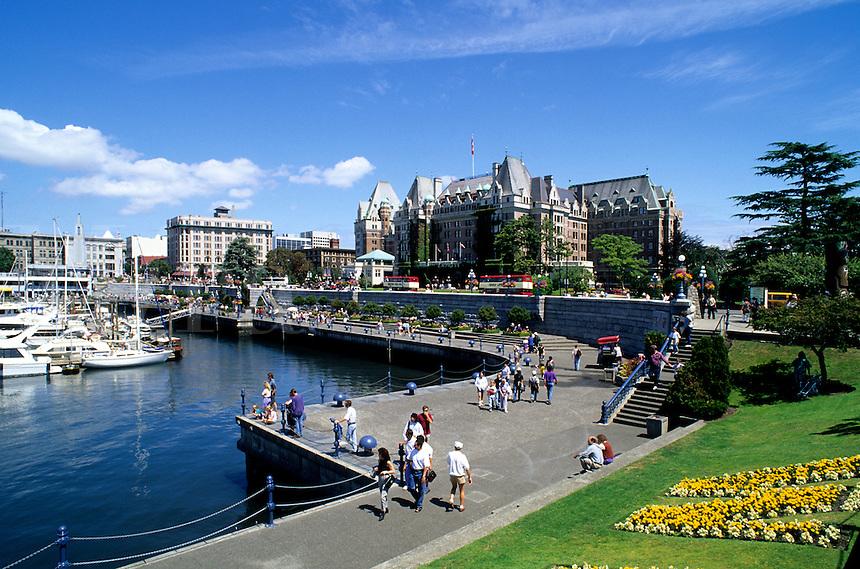 Victoria City Center in British Columbia at the harbour, Canada