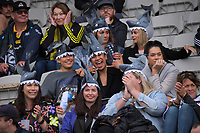 Fans in the grandstand during the Mitre 10 Cup rugby match between Wellington Lions and Tasman Makos at Jerry Collins Stadium in Wellington, New Zealand on Saturday, 31 October 2020. Photo: Dave Lintott / lintottphoto.co.nz