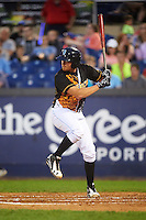 Wilmington Blue Rocks catcher Chad Johnson (7) at bat during a game against the Lynchburg Hillcats on June 3, 2016 at Judy Johnson Field at Daniel S. Frawley Stadium in Wilmington, Delaware.  Lynchburg defeated Wilmington 16-11 in ten innings.  (Mike Janes/Four Seam Images)