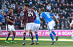 Hearts v St Johnstone…19.03.16  Tynecastle, Edinburgh<br />Murray Davidson heads the ball in to make it 1-0<br />Picture by Graeme Hart.<br />Copyright Perthshire Picture Agency<br />Tel: 01738 623350  Mobile: 07990 594431