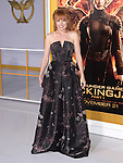 Stef Dawson at The  Los Angeles Premiere of The Hunger Games: Mockingjay - Part 1 held at  Nokia Theatre L.A. Live in Los Angeles, California on November 17,2014                                                                               © 2014 Hollywood Press Agency