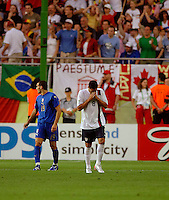 Clint Dempsey (8) after his shot just went wide of the goal. The USA and Italy played to a 1-1 tie in their FIFA World Cup Group E match at Fritz-Walter-Stadion, Kaiserslautern, Germany, June 17, 2006.