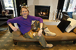 """Carson Kressley, flamboyant star of YV's """"Queer Eye for the Straight Guy"""", in the lobby of the W Hotel in Seattle. Kressley was in town promoting his fashion book of tips for the straight men, """"Off the Cuff."""" .Jim Bryant Photo. ©2008. All Rights Reserved"""
