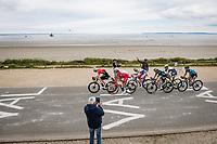 breakaway group riding along the Breton sea front<br /> <br /> Stage 1 from Brest to Landerneau (198km)<br /> 108th Tour de France 2021 (2.UWT)<br /> <br /> ©kramon