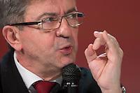 JEAN-LUC MELENCHON ASSISTE AU 22E RAPPORT SUR L'ETAT DU MAL-LOGEMENT EN FRANCE PAR LA FONDATION ABBE PIERRE, LE 31 JANVIER 2017 A PARIS.