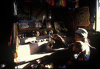 Tibetan mother and child living as Tibetan refugees in Nepal.