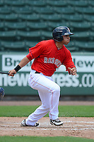 GCL Red Sox outfielder Jesus Loya (12) during a game against the GCL Twins on July 19, 2013 at JetBlue Park at Fenway South in Fort Myers, Florida.  GCL Red Sox defeated the GCL Twins 4-2.  (Mike Janes/Four Seam Images)