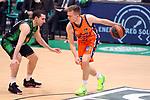 Liga ENDESA 2020/2021. Game: 11.<br /> Club Joventut Badalona vs Valencia Basket: 80-91.<br /> Ferran Bassas vs Martin Hermannsson.