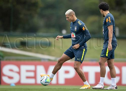 12th November 2020; Granja Comary, Teresopolis, Rio de Janeiro, Brazil; Qatar 2022 World Cup qualifiers; Richarlison of Brazil during training session