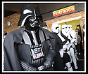 04/05/2009  Copyright  Pic : James Stewart.43_the_buzz.**** FREE FIRST USE WHEN USED IN RELATION TO  OPENING OF THE BUZZ ****.THE UK'S LARGEST SOFT PLAY AND LASER QUEST ARENA OPENS IN FALKIRK...... .DARTH VADER CHECKS OUT THE CROWD....For more information contact Jonathan Kennedy or Alison Jack at Wave PR on 0141 303 8390 / 07803 137262..James Stewart Photography 19 Carronlea Drive, Falkirk. FK2 8DN      Vat Reg No. 607 6932 25.Telephone      : +44 (0)1324 570291 .Mobile              : +44 (0)7721 416997.E-mail  :  jim@jspa.co.uk.If you require further information then contact Jim Stewart on any of the numbers above.........