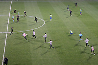 COLUMBUS, OH - DECEMBER 12: Columbus Crew players storm the field in celebration after a game between Seattle Sounders FC and Columbus Crew at MAPFRE Stadium on December 12, 2020 in Columbus, Ohio.