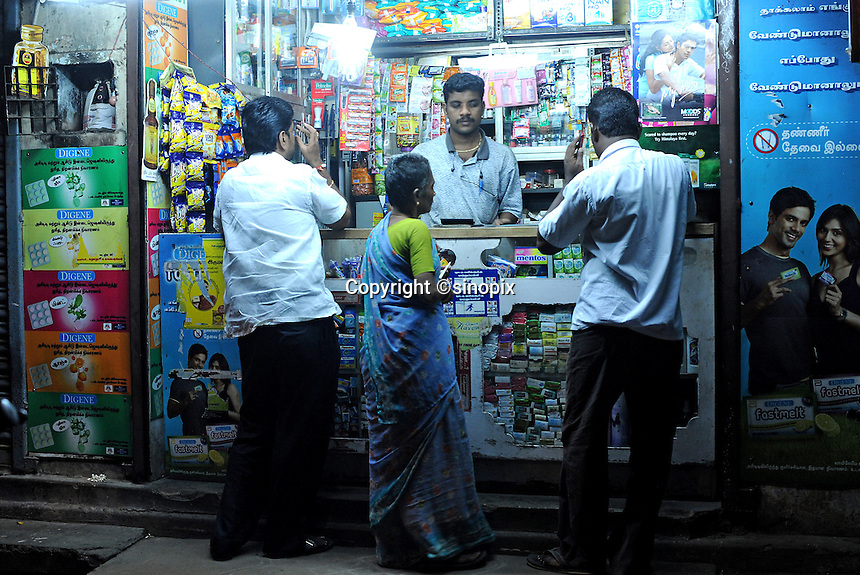Sweet shop in Madras, India