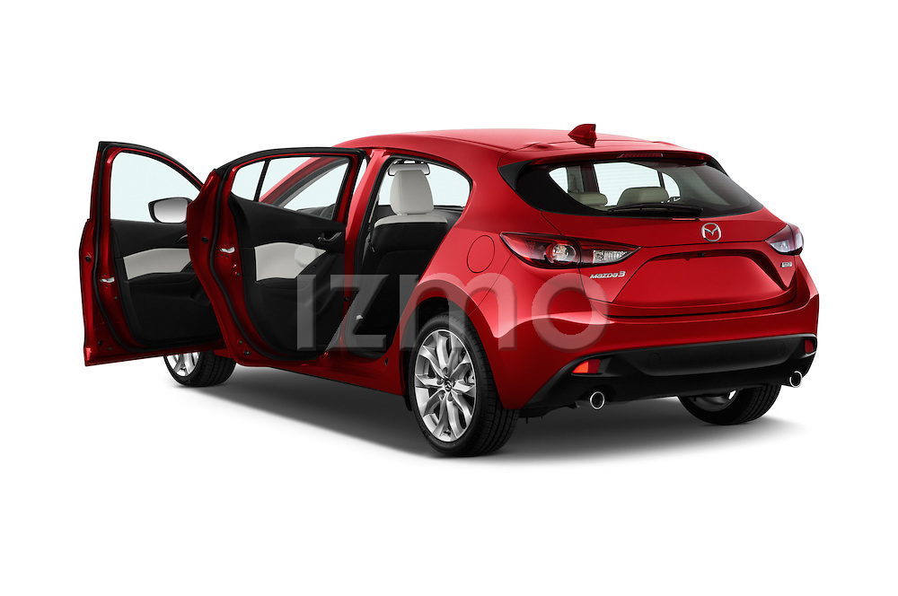 Rear three quarter view of a 2014 Mazda Mazda 3 I Grand Touring HatchBack