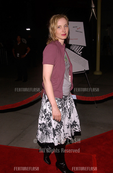 Actress JULIE DELPY at the Los Angeles premiere of Criminal..August 30, 2004