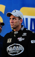 Oct. 16, 2011; Chandler, AZ, USA; NHRA top fuel dragster driver Larry Dixon celebrates after winning the Arizona Nationals at Firebird International Raceway. Mandatory Credit: Mark J. Rebilas-