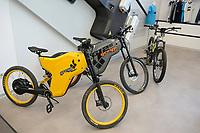 CROATIA, Sveta Nedelja near Zagreb, Rimac Automobili, showroom with Greyp e-bike / KROATIEN, Sveta Nedelja bei Zagreb , Rimac Automobili, Showroom mit Greyp Elektrofahrrad