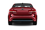Straight rear view of a 2018 KIA Optima Plug-In Hybrid 4 Door Sedan stock images