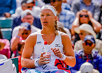 London, England, 10 th. July, 2018, Tennis,  Wimbledon, Womans single quarter final: Kiki Bertens (NED) in her match against Julia Goerges (GER)<br /> Photo: Henk Koster/tennisimages.com
