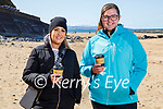 Enjoying a stroll and a coffee in Ballybunion on Sunday, l to r: Linda Daly and Noreen Hitchen.