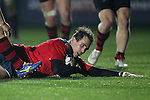Inside centre Denis Hurley of Munster Rugby scores a try for Munster.<br /> <br /> Guiness Pro 12<br /> Newport Gwent Dragons v Munster Rugby<br /> Rodney Parade<br /> 21.11.14<br /> ©Steve Pope-SPORTINGWALES