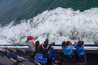 Riding the Ferry to Angel Island State Park, San Francisco Bay, California, US