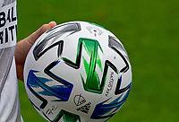 LOS ANGELES, CA - OCTOBER 25: ADIDAS, NATIVO XXV, MLS, Don Garber ball during a game between Los Angeles Galaxy and Los Angeles FC at Banc of California Stadium on October 25, 2020 in Los Angeles, California.