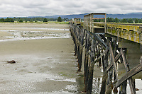 Old dock in the coastal community of Gustavus, Alaska