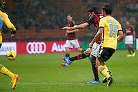 Goal di Ricardo kaka Milan, Goal Celebration<br /> Milano 30-10-2013<br /> Stadio Giuseppe Meazza<br /> Football Calcio 2013/2014 Serie A <br /> Milan - Lazio<br /> Foto Marco Bertorello Insidefoto