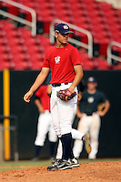 September 15, 2009:  A.J. Vanegas, one of many top prospects in action, taking part in the 18U National Team Trials at NC State's Doak Field in Raleigh, NC.  Photo By David Stoner / Four Seam Images
