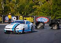 Sep 17, 2017; Concord, NC, USA; NHRA pro stock driver Tanner Gray during the Carolina Nationals at zMax Dragway. Mandatory Credit: Mark J. Rebilas-USA TODAY Sports