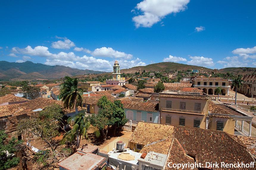 Cuba, Blick über die Stadt in Trinidad, Provinz Sancti Spiritus, Unesco-Weltkulturerbe