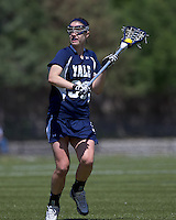 Yale University midfielder Reilly Foote (30). Boston College defeated Yale University, 16-5, at Newton Campus Field, April 28, 2012.